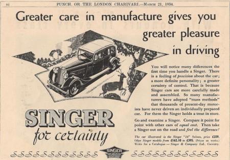 History of Singer Cars